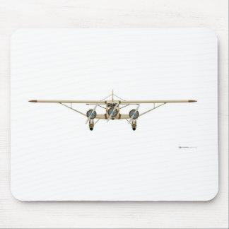 Vista delantera del modelo U del avión de pasajero Alfombrillas De Ratón