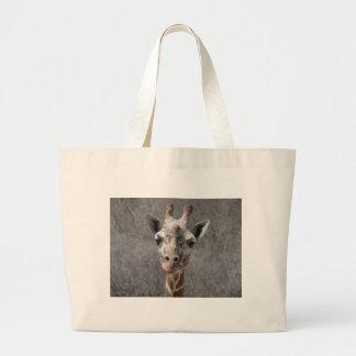 vista delantera principal de la jirafa bolsas