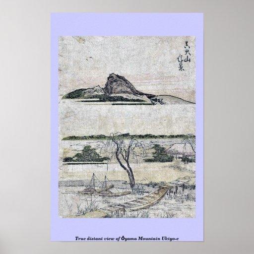 Vista distante verdadera de la montaña Ukiyo-e de  Posters