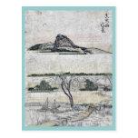 Vista distante verdadera de la montaña Ukiyo-e de  Tarjeta Postal