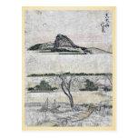 Vista distante verdadera de la montaña Ukiyo-e de  Tarjetas Postales