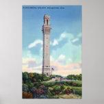 Vista diurna del monumento del peregrino póster