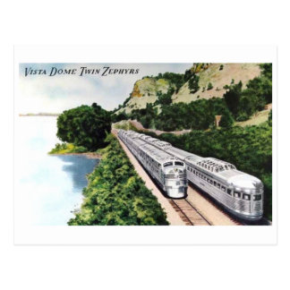 Vista Dome Passenger Train Railroad Vintage Postcard
