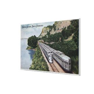 Vista Dome Twin Zephers Railroad Canvas Print