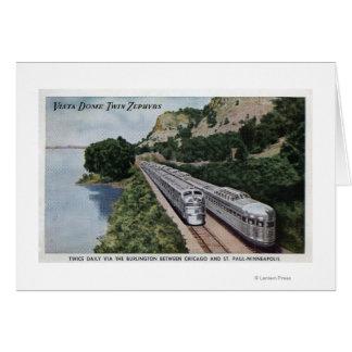 Vista Dome Twin Zephers Railroad Card