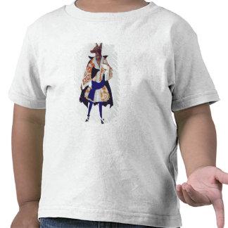 Vista el diseño para el lobo, de la bella camisetas