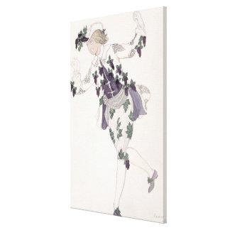 Vista el diseño para el Pageboy de la lila de hada Impresión En Lienzo Estirada