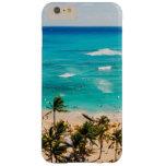 Vista elevada de la escena de la playa de Waikiki, Funda De iPhone 6 Plus Barely There
