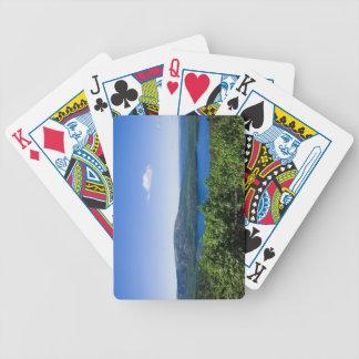Vista elevada del lago eagle baraja de cartas