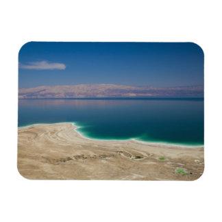 Vista elevada del mar muerto iman de vinilo
