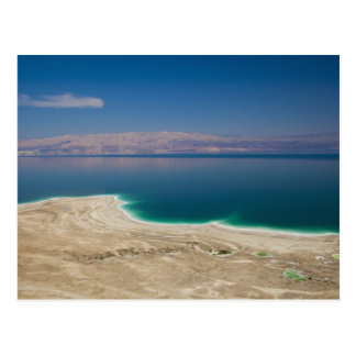 Vista elevada del mar muerto postal