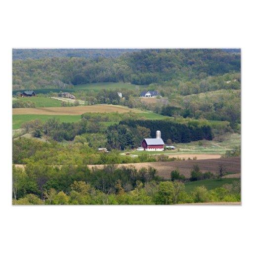 Vista escénica de las tierras de labrantío al sur  fotografías