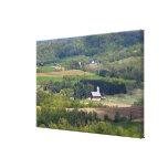 Vista escénica de las tierras de labrantío al sur  lienzo envuelto para galerias