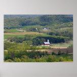Vista escénica de las tierras de labrantío al sur  póster