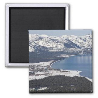 Vista escénica del lago Tahoe, los E.E.U.U. Imán Cuadrado