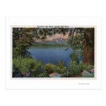 Vista escénica del lago tarjetas postales