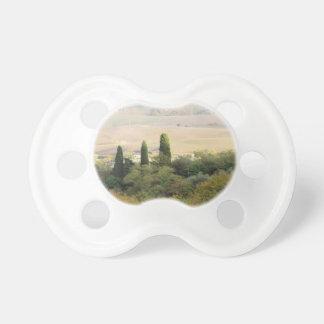 Vista escénica del paisaje típico de Toscana Chupete De Bebé