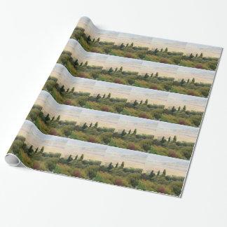 Vista escénica del paisaje típico de Toscana Papel De Regalo