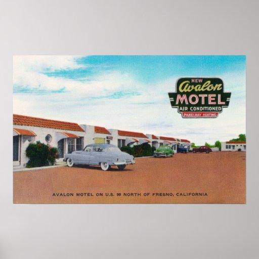Vista exterior de Avalon MotelFresno, CA Posters