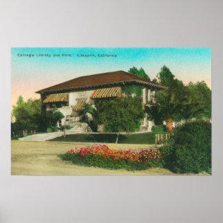 Vista exterior de Carnegie LibraryLakeport, CA Posters