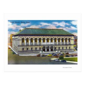 Vista exterior de la biblioteca pública tarjeta postal