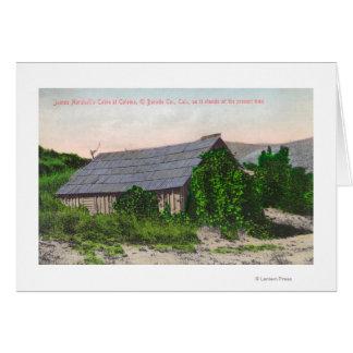 Vista exterior de la cabina de James Marshall Tarjeta De Felicitación