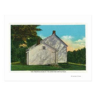 Vista exterior de la casa de Freeman Tarjeta Postal