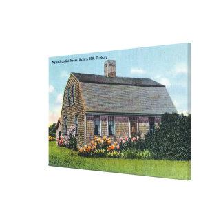 Vista exterior de la casa de Myles Standish Lona Envuelta Para Galerias
