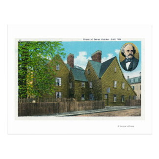 Vista exterior de la casa de siete aguilones 2 postales
