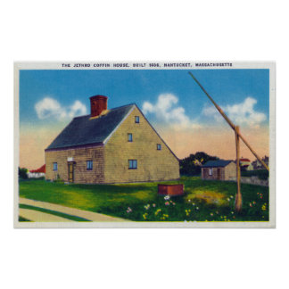Vista exterior de la casa del ataúd de Jethro Póster