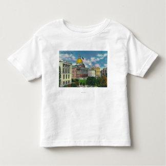 Vista exterior de la casa del estado t-shirts