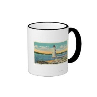 Vista exterior de la casa ligera de la isla de la  tazas de café