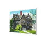 Vista exterior de la casa vieja de la bruja impresión en lona