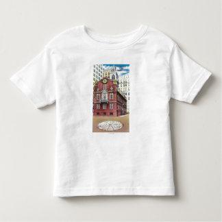 Vista exterior de la casa vieja del estado camisetas