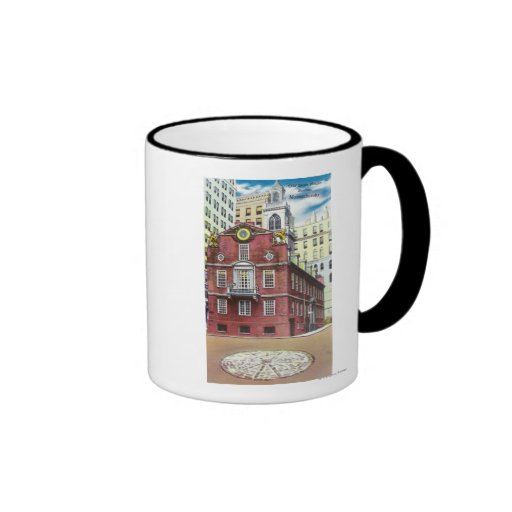 Vista exterior de la casa vieja del estado taza de café