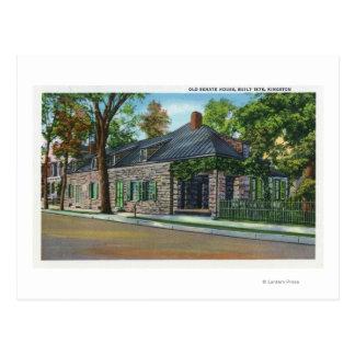 Vista exterior de la casa vieja del senado tarjeta postal