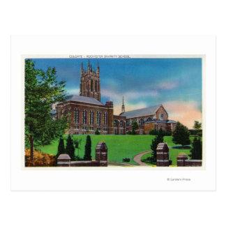 Vista exterior de la escuela de teología de postal