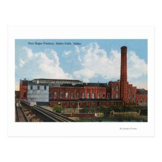 Vista exterior de la fábrica del azúcar de postales