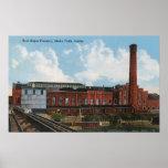 Vista exterior de la fábrica del azúcar de remolac impresiones