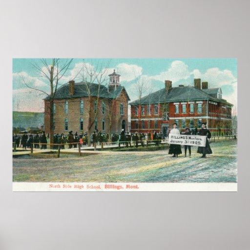 Vista exterior de la High School secundaria del la Póster