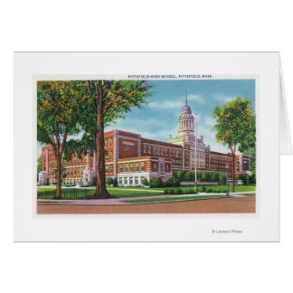 Vista exterior de la High School secundaria Tarjeta De Felicitación