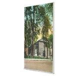 Vista exterior de la iglesia holandesa protestante lona envuelta para galerías