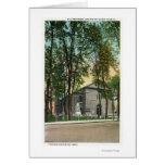 Vista exterior de la iglesia holandesa protestante tarjeta