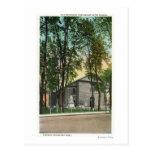 Vista exterior de la iglesia holandesa protestante tarjeta postal