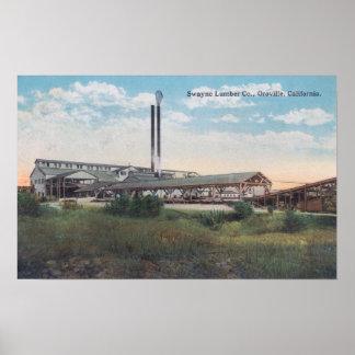 Vista exterior de la madera de construcción CoOrov Poster