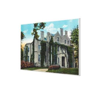 Vista exterior de la mansión de Oakland Impresión En Lienzo