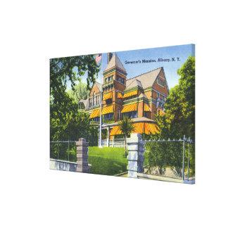 Vista exterior de la mansión del gobernador impresión en lienzo