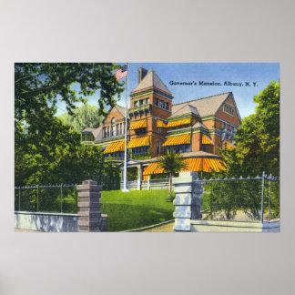 Vista exterior de la mansión del gobernador póster