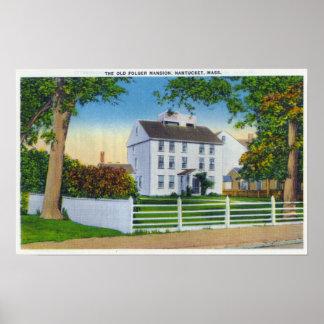 Vista exterior de la mansión vieja de Folger Posters