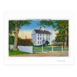 Vista exterior de la mansión vieja de Folger Tarjetas Postales